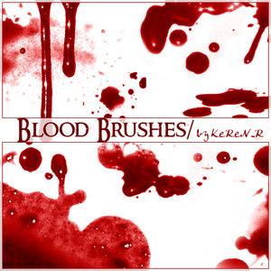 Кровавые кисти фотошоп