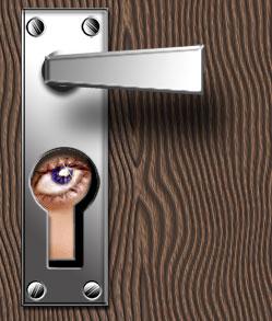 Дверная металлическая ручка
