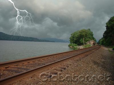 Тучи и молнии в Photoshop