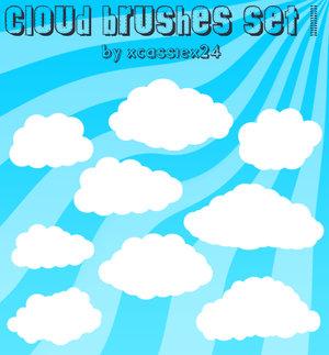 Кисти векторные облака