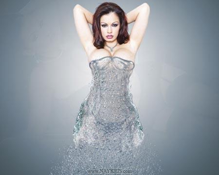 Как в Фотошопе сделать платье из капель воды