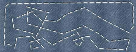 Урок Фотошоп - как сделать швейную строчку