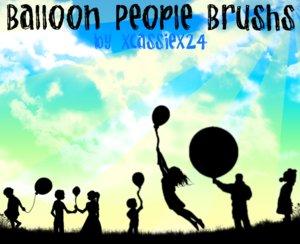 Люди с воздушными шарами