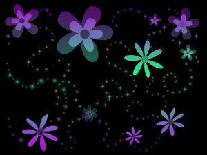 Кисти цветы и пузырьки