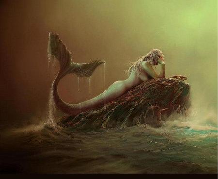 русалка и шторм