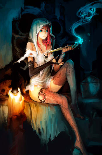 ведьма в стиле анимэ