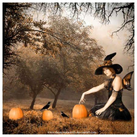 хэллоуин в лесу