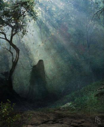 призрак в лесу